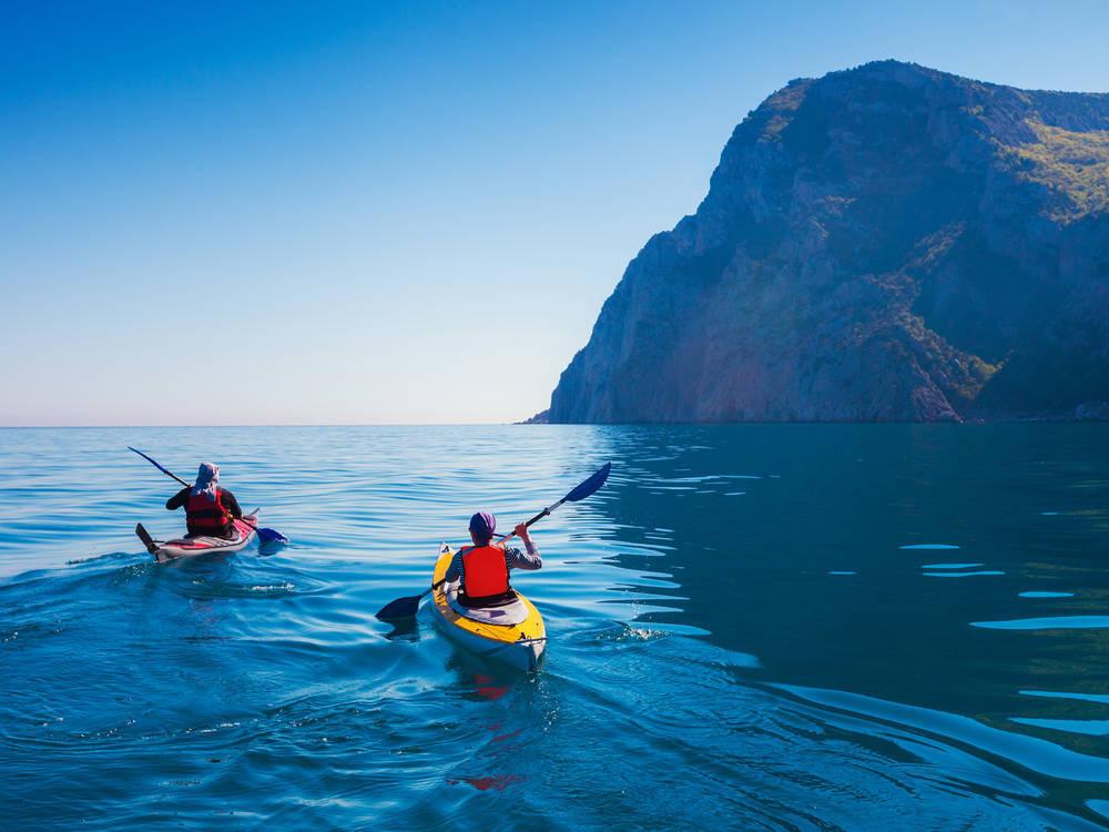 Kajaks, una saludable forma de disfrutar del mar Mediterráneo
